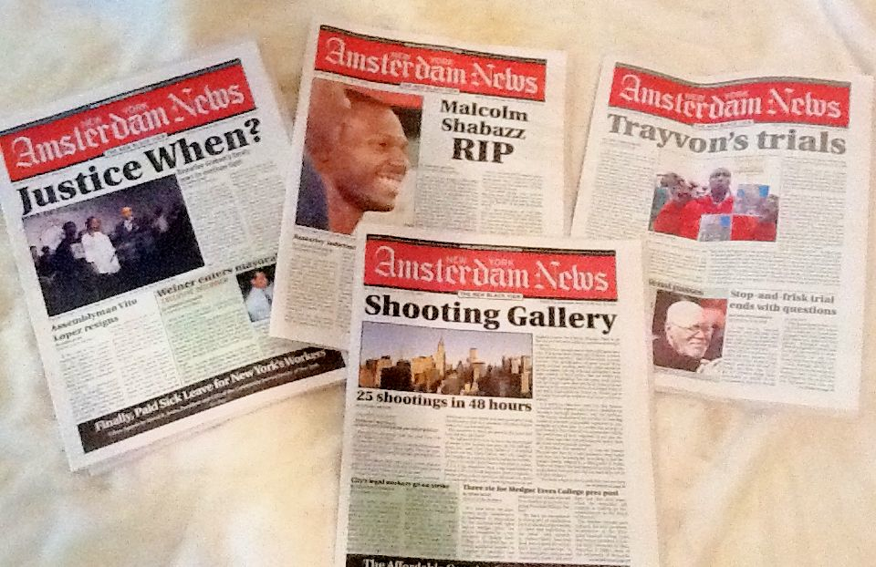 Cover Layout Designs for the New York Amsterdam News