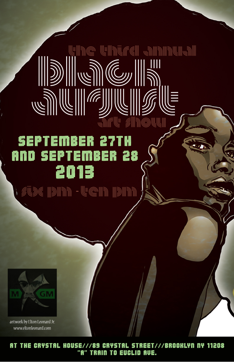 Poster Flyer for the 3rd annual Black August Art Show